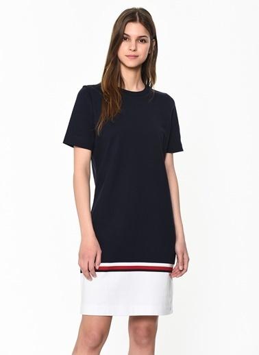 Tommy Hilfiger Kadın Bettıe C-Nk Dress Ss Elbise WW0WW25203 Renkli